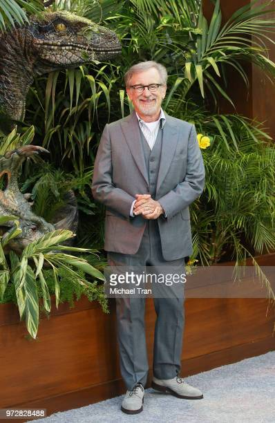 Steven Spielberg arrives to the Los Angeles premiere of Universal Pictures and Amblin Entertainment's 'Jurassic World Fallen Kingdom' held at Walt...