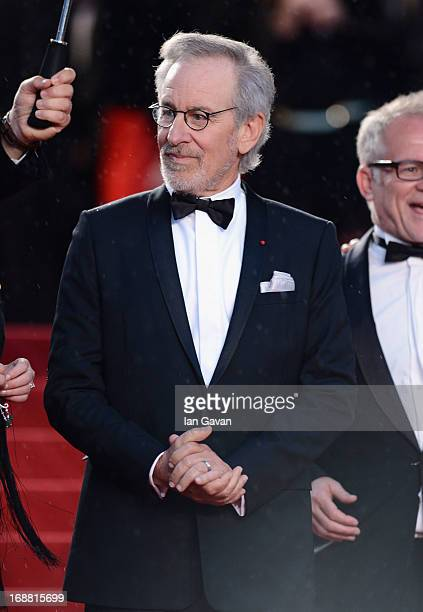 Steven Spielberg attends Electrolux at Opening Night of The 66th Annual Cannes Film Festival at the Theatre Lumiere on May 15 2013 in Cannes France