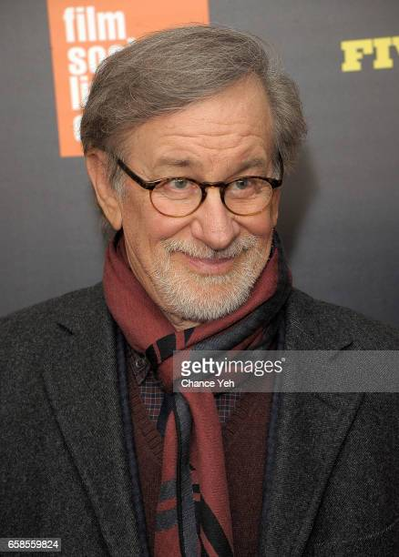 Steven Spielberg attends Five Came Back world premiere at Alice Tully Hall at Lincoln Center on March 27 2017 in New York City