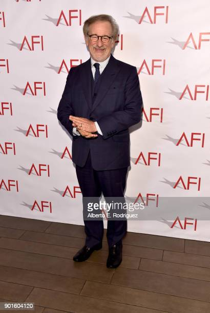 Steven Spielberg attends the 18th Annual AFI Awards at Four Seasons Hotel Los Angeles at Beverly Hills on January 5 2018 in Los Angeles California