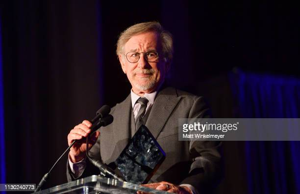 Steven Spielberg attends the 55th Annual Cinema Audio Society Awards at InterContinental Los Angeles Downtown on February 16 2019 in Los Angeles...