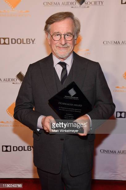 Steven Spielberg attends the 55th Annual Cinema Audio Society Awards at InterContinental Los Angeles Downtown on February 16, 2019 in Los Angeles,...