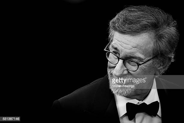 Steven Spielberg attends 'The BFG ' premiere during the 69th annual Cannes Film Festival at the Palais des Festivals on May 14 2016 in Cannes France