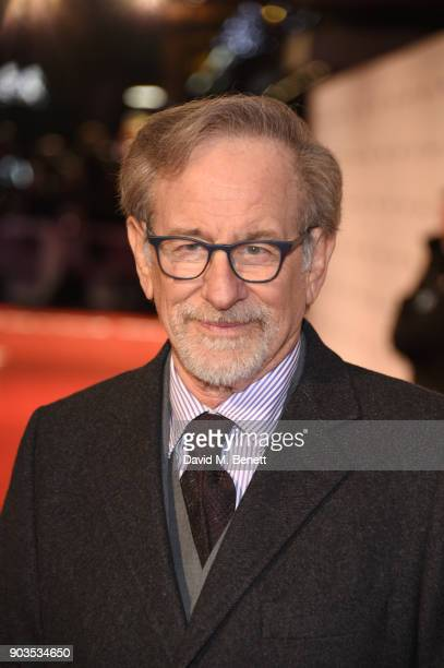 Steven Spielberg attends the European Premiere of 'The Post' at Odeon Leicester Square on January 10 2018 in London England