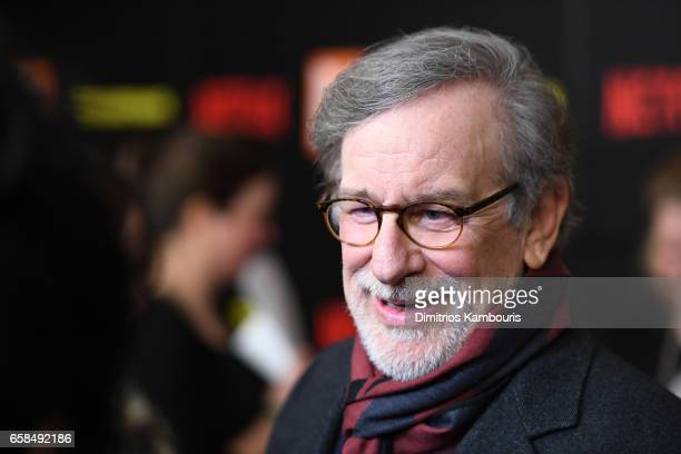 Steven Spielberg attends the Five Came Back world premiere at Alice Tully Hall at Lincoln Center on March 27 2017 in New York City