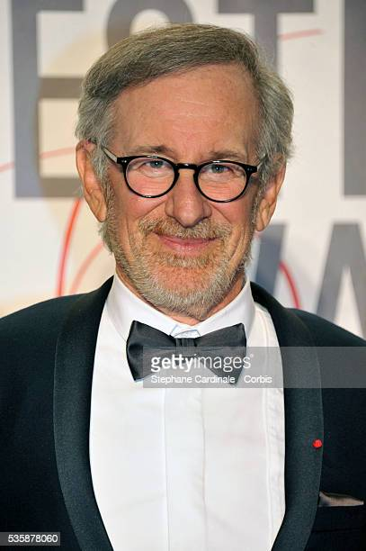 Steven Spielberg attends the 'Palme D'Or Winners dinner' during the 66th Cannes International Film Festival