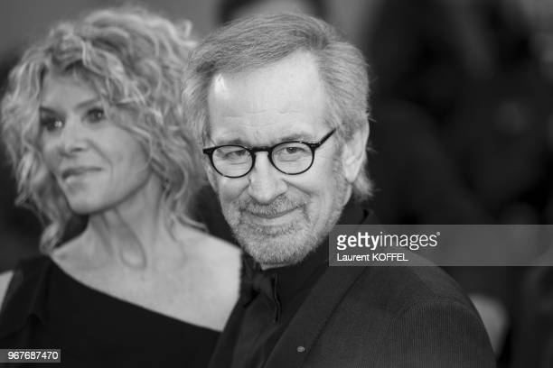 Steven Spielberg attends the Premiere of 'Jimmy P ' at The 66th Annual Cannes Film Festival on May 18 2013 in Cannes France