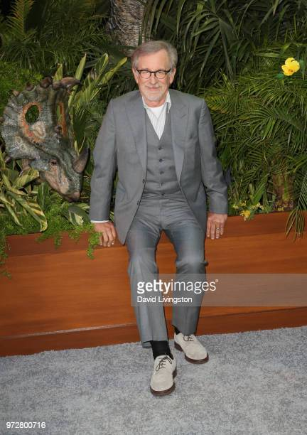 """Steven Spielberg attends the premiere of Universal Pictures and Amblin Entertainment's """"Jurassic World: Fallen Kingdom"""" at Walt Disney Concert Hall..."""