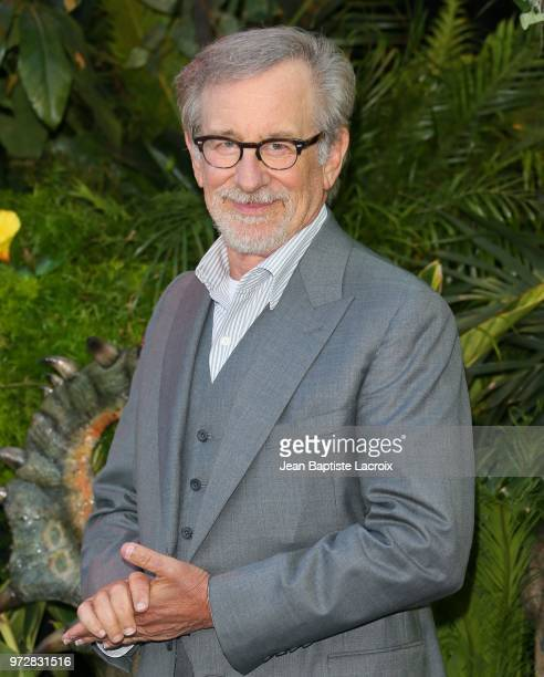 """Steven Spielberg attends the premiere of Universal Pictures and Amblin Entertainment's """"Jurassic World: Fallen Kingdom"""" on June 12, 2018 in Los..."""
