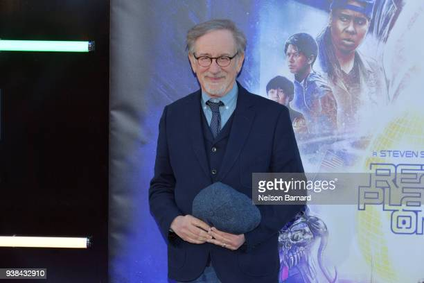 Steven Spielberg attends the Premiere of Warner Bros Pictures' Ready Player One at Dolby Theatre on March 26 2018 in Hollywood California