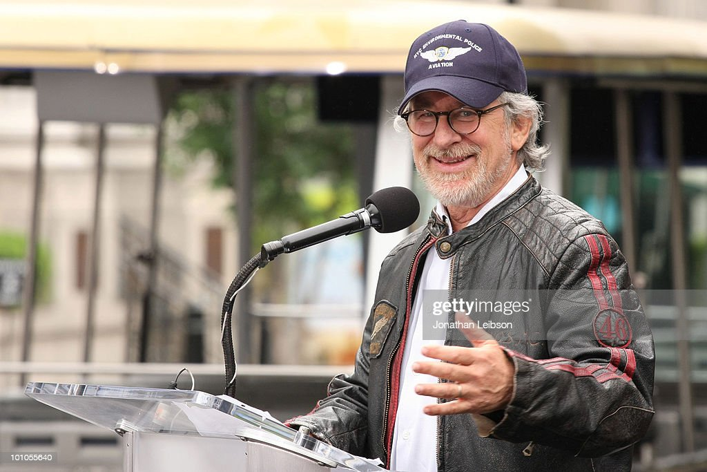 Steven Spielberg attends the re-opening of the Universal Studios 'New York Street' back lot at Universal Studios Hollywood on May 27, 2010 in Universal City, California.