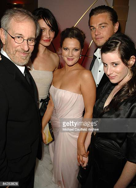 Steven Spielberg, Cameron Diaz, Drew Barrymore, Leonardo DiCaprio and Sasha Spielberg