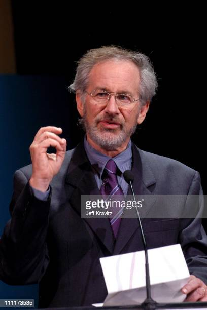 Steven Spielberg during Shoah Foundation Exclusive Performance at Amblin Entertainment on Universal Studios in Universal City California United States