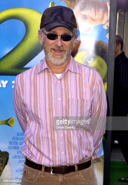 Steven Spielberg during Shrek 2 Los Angeles Premiere at Mann Village Theatre in Westwood California United States