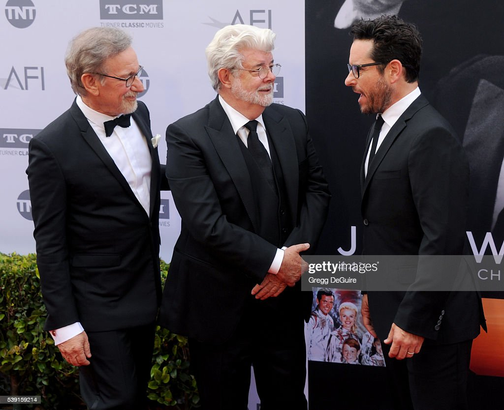 Filmmakers Steven Spielberg, George Lucas and J.J. Abrams
