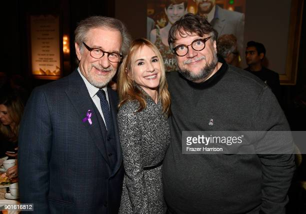 Steven Spielberg Holly Hunter and Guillermo del Toro attend the 18th Annual AFI Awards at Four Seasons Hotel Los Angeles at Beverly Hills on January...