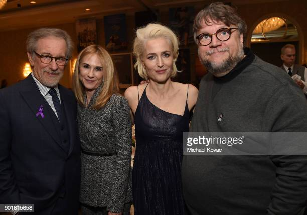 Steven Spielberg Holly Hunter Gillian Anderson and Guillermo del Toro attend the 18th Annual AFI Awards at Four Seasons Hotel Los Angeles at Beverly...