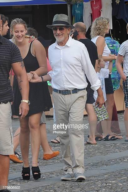 Steven Spielberg is seen on August 4 2013 in Portofino Italy