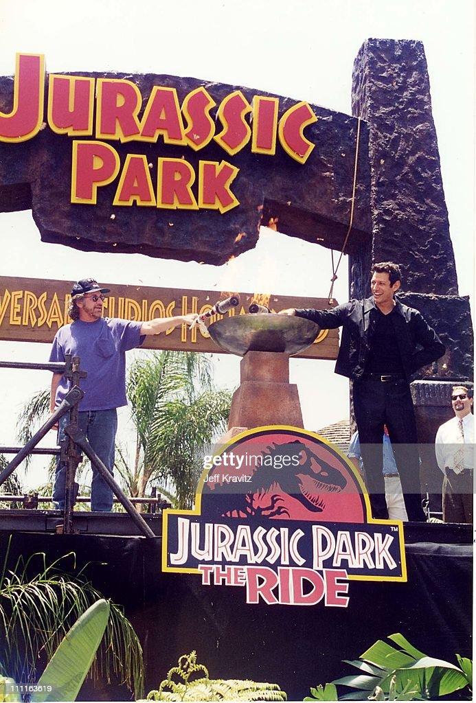 Opening of Jurassic Park Ride at Universal Studios : News Photo
