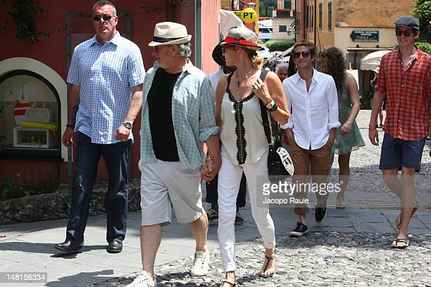 Steven Spielberg Kate Capshaw and their son Sawyer Spielberg sighted on July 11 2012 in Portofino Italy