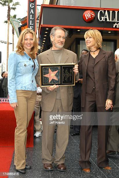 Steven Spielberg, Kate Capshaw & Jessica Capshaw during Spielberg Receives Star on Walk of Fame at Hollywood in Hollywood, CA, United States.