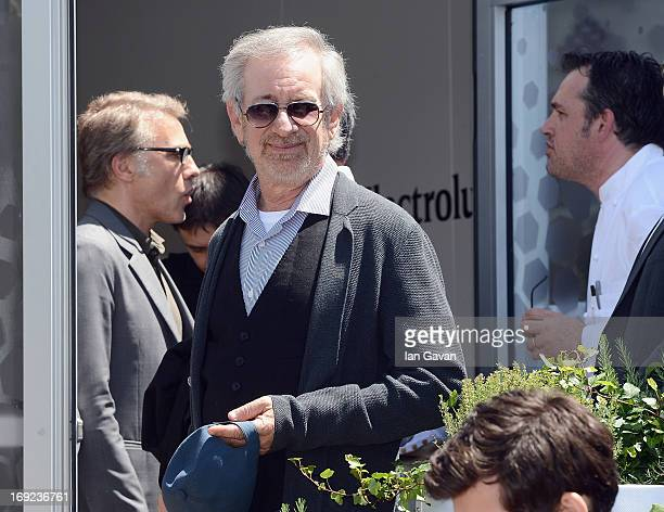 Steven Spielberg of the Grand Jury attends Chef's Table by Electrolux with Bruno Oger at Electrolux Agora Pavilion on May 22 2013 in Cannes France