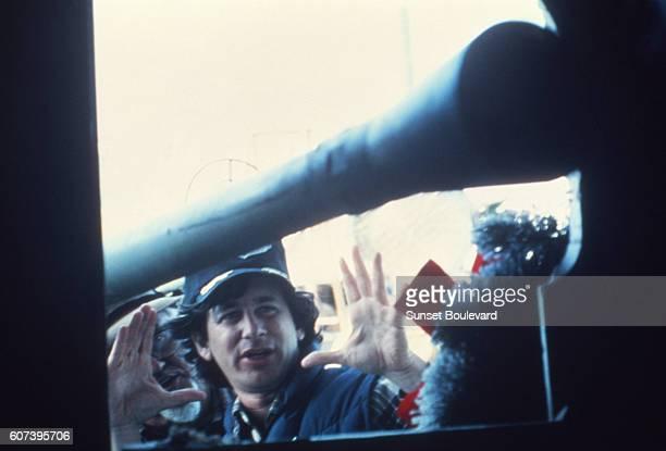 Steven Spielberg on the set of 1941