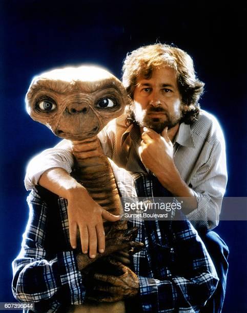 Steven Spielberg on the set of ET