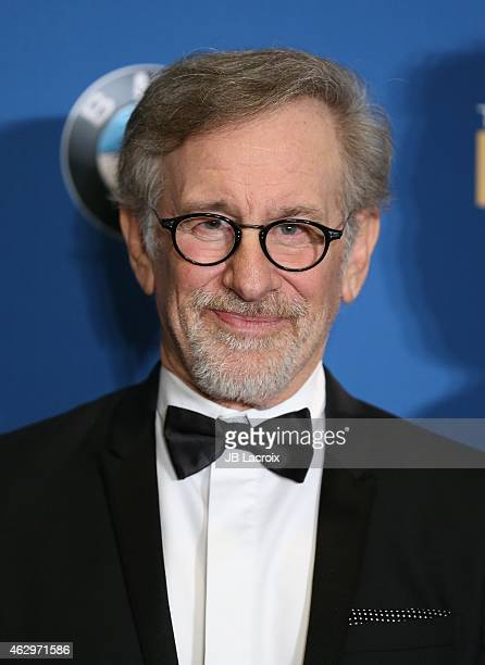 Steven Spielberg poses in the press room at the 67th Annual Directors Guild Of America Awards at the Hyatt Regency Century Plaza on February 7 2015...