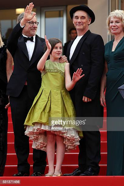 "Steven Spielberg, Ruby Barnhill, Mark Rylance and Claire van Kampen attend ""The BFG "" premiere during the 69th annual Cannes Film Festival at the..."