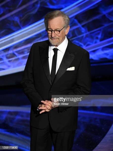 Steven Spielberg speaks onstage during the 92nd Annual Academy Awards at Dolby Theatre on February 09, 2020 in Hollywood, California.