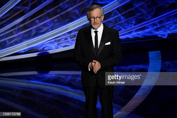 Steven Spielberg speaks onstage during the 92nd Annual Academy Awards at Dolby Theatre on February 09 2020 in Hollywood California