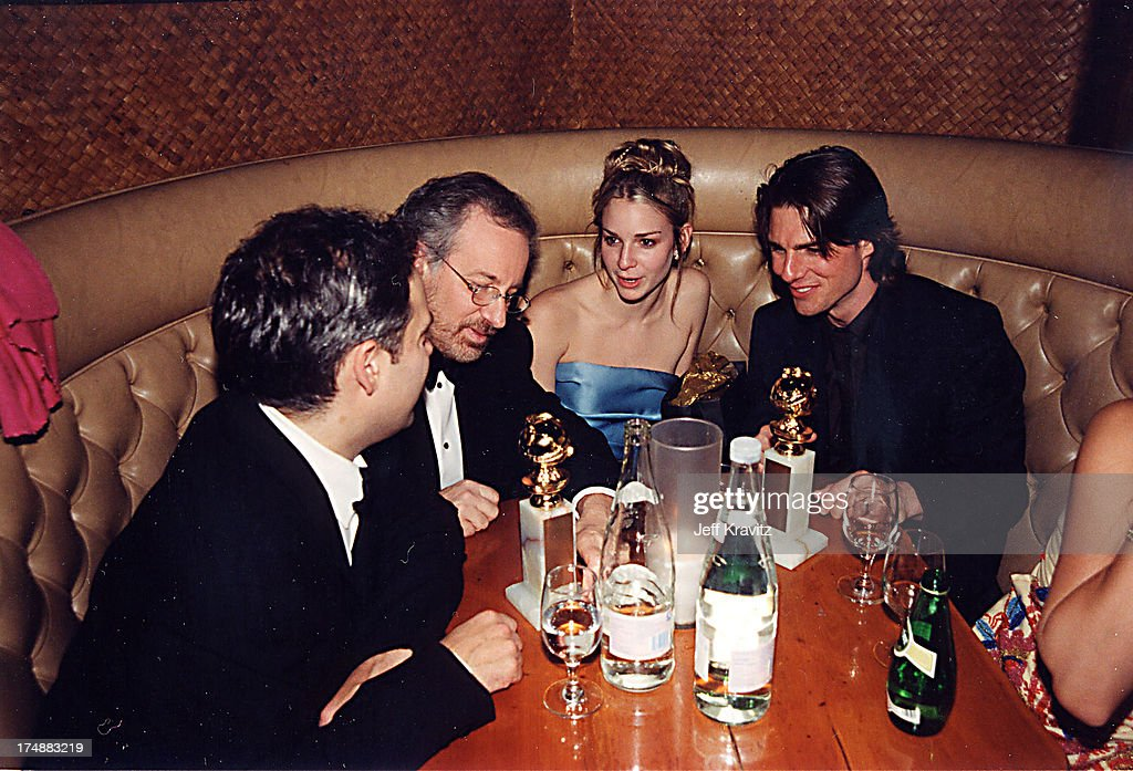 Steven Spielberg & Tom Cruise during 2000 Golden Globe SKG Party in Los Angeles, California, United States.