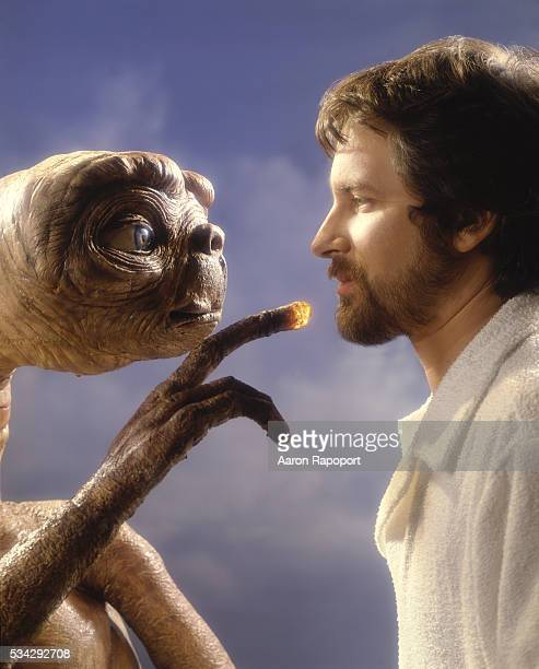 Steven Spielberg with ET