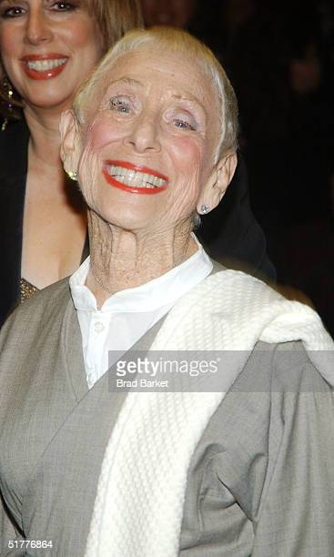 Steven Spielberg's mother Leah Adler arrives at the Children At Heart Gala To Benefit Children Of Chernobyl on November 22 2004 at Pier 60 at the...