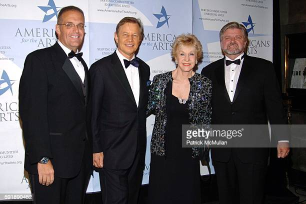 Steven Spiess Michael York Pat York and Robert Lynch attend The Americans for The Arts National Arts Awards at Cipriani 42nd Street on October 11...