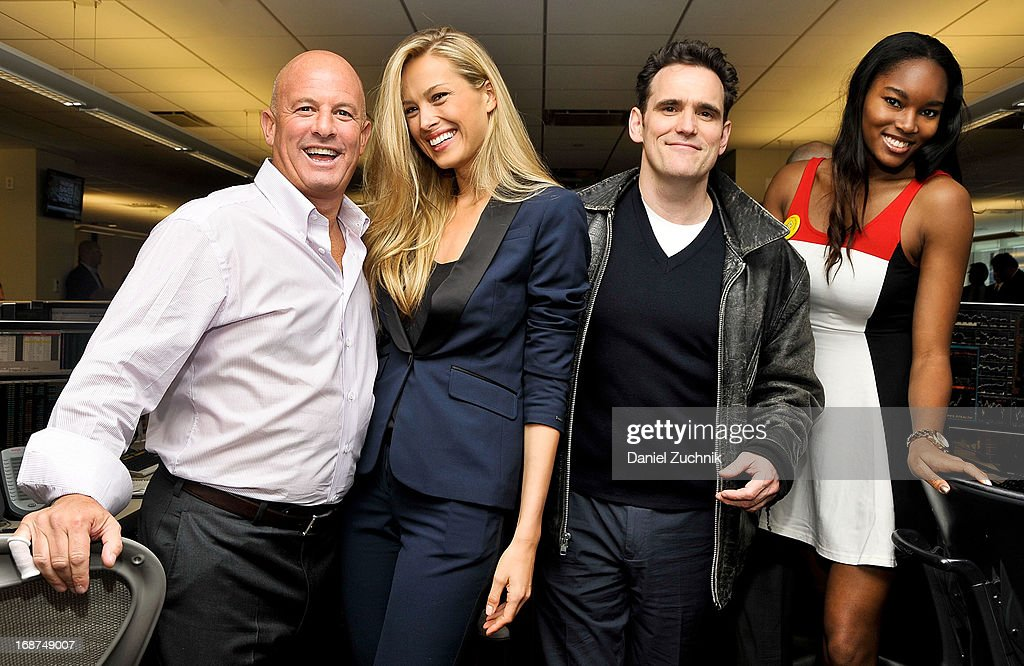 Steven Starker, Petra Nemcova, Matt Dillon and Damaris Lewis attend the 2013 Commissions For Charity Day at BTIG on May 14, 2013 in New York City.