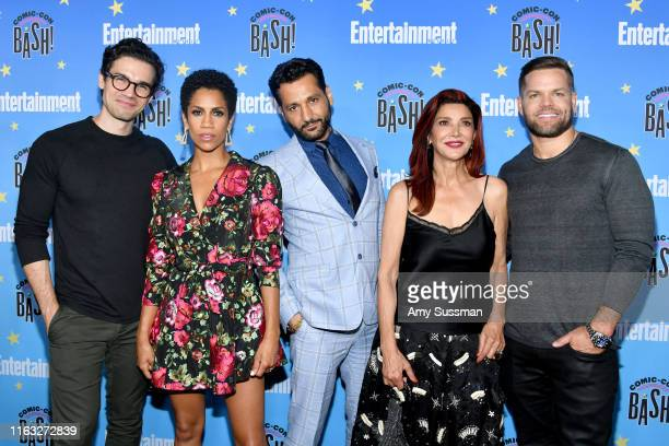 Steven Strait Dominique Tipper Cas Anvar Shohreh Aghdashloo and Wes Chatham attend Entertainment Weekly's ComicCon Bash held at FLOAT Hard Rock Hotel...