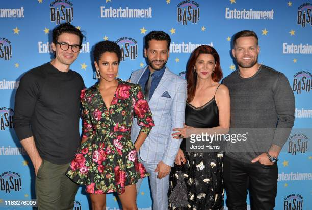 Steven Strait, Dominique Tipper, Cas Anvar, Shohreh Aghdashloo and Wes Chatham attend Entertainment Weekly Comic-Con Celebration at Float at Hard...