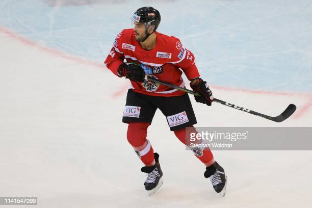 Steven Strong of Austria during the Austria v Denmark - Ice Hockey International Friendly at Erste Bank Arena on May 5, 2019 in Vienna, Austria.