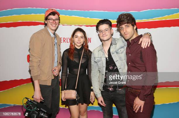 Steven Suptic Autumn Farrell James DeAngelis and Clayton James of Sugar Pine 7 attend The 8th Annual Streamy Awards at The Beverly Hilton Hotel on...