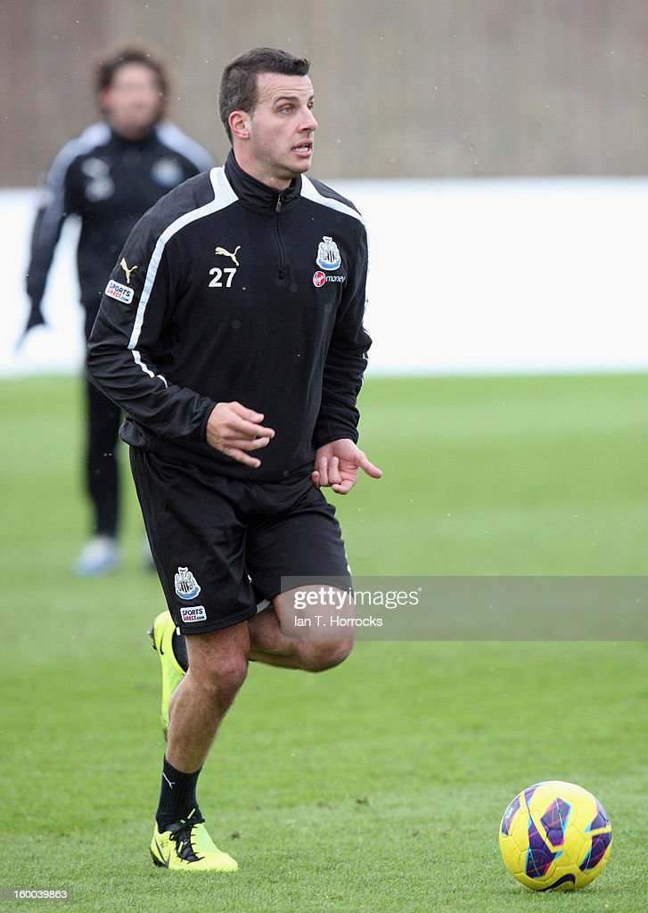 Steven Taylor during a Newcastle United training session at the Little Benton training ground on January 25, 2013 in Newcastle upon Tyne, England.