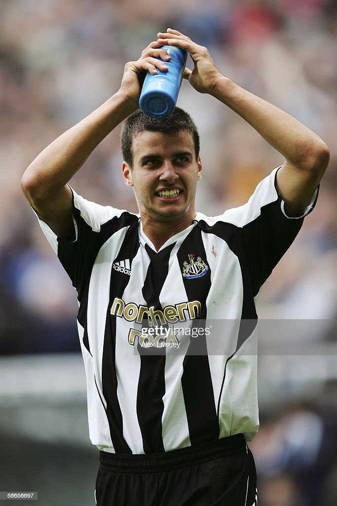 Steven Taylor of Newcastle United celebrates during the Barclays Premiership match between Newcastle United and Sunderland at St James' Park on October 23, 2005 in Newcastle, England.