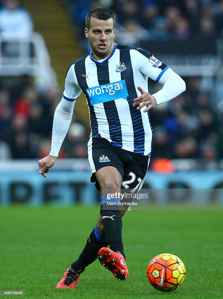 Steven Taylor of Newcastle United in action during the Barclays Premier League match between Newcastle United FC and West Bromwich Albion FC at St James' Park on February 6, 2016 in Newcastle Upon Tyne, England.