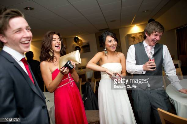 Steven Telford Aimee Rutherford Laren Crane and Andrew Davison during the prom at St James' Park on July 1 2011 in Newcastle United Kingdom After...