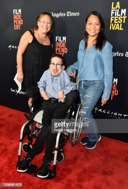 Steven Tingus Sharon Aragon Belen Garcia attends the 2018 LA Film Festival Opening Night Premiere Of 'Echo In The Canyon' at John Anson Ford...