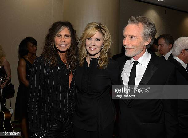Steven Tyler Alison Krauss and J D Souther attend the Songwriters Hall of Fame 44th Annual Induction and Awards Dinner at the New York Marriott...