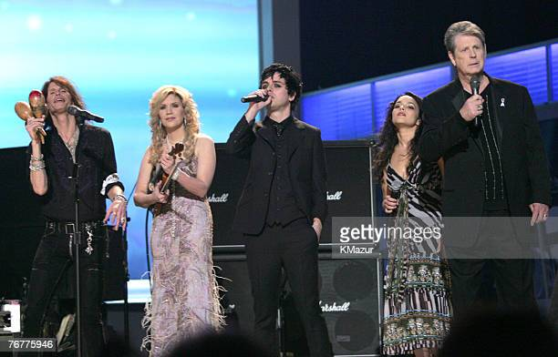 Steven Tyler Alison Krauss Billie Joe Armstrong Norah Jones and Brian Wilson perform Across The Universe the Tsunami Relief performance Photo by...