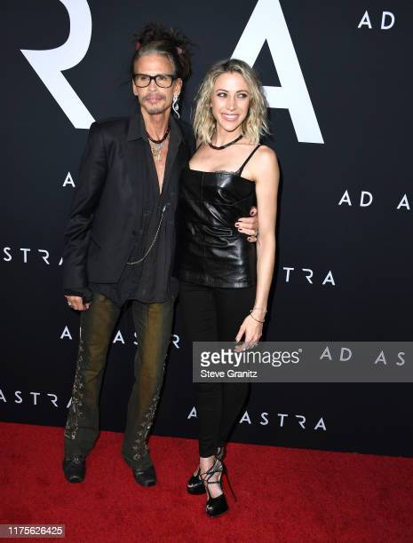 Steven Tyler and Aimee Preston arrives at the Premiere Of 20th Century Fox's Ad Astra at The Cinerama Dome on September 18 2019 in Los Angeles...