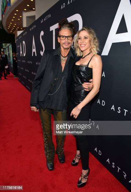 Steven Tyler and Aimee Preston attend the premiere of 20th Century Fox's Ad Astra at The Cinerama Dome on September 18 2019 in Los Angeles California